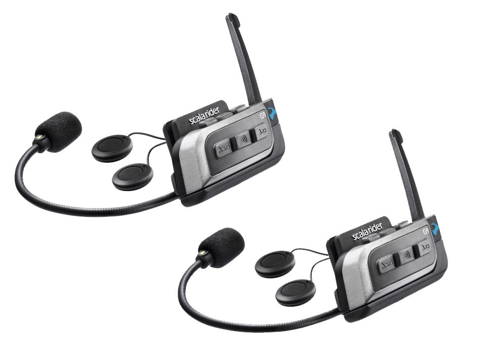Cardo Scala Rider G9 Powerset (Includes 2 G9 Headsets) Bluetooth motorcycle intercom (pack of 2)