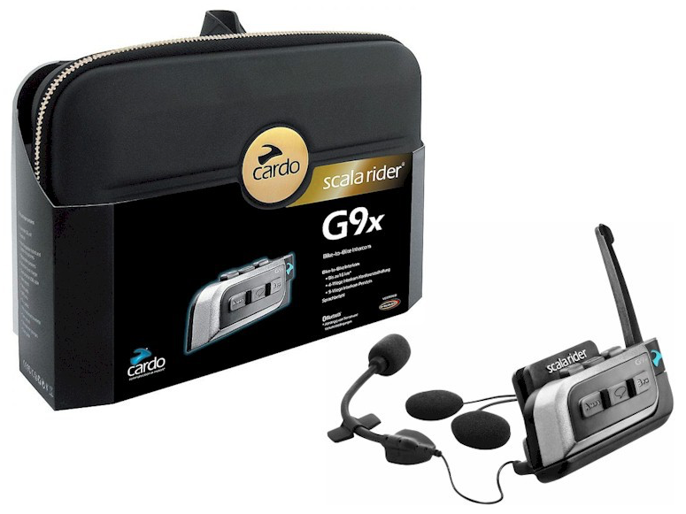 Cardo Scala Rider G9 Powerset motorcycle intercom - package