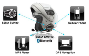 Sena SMH10-11 Motorcycle Bluetooth Headset:Intercom with Universal Microphone Kit - overview