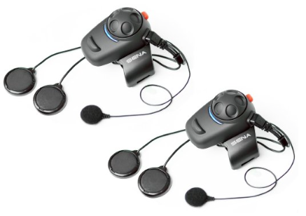 Sena SMH5D-02 Bluetooth Headset:Intercom Full-Face Helmet Kit for Motorcycles (Pack of 2)
