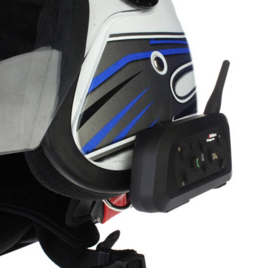 Buyee BT 1000M Interphone Motorcycle Intercom - on helmet