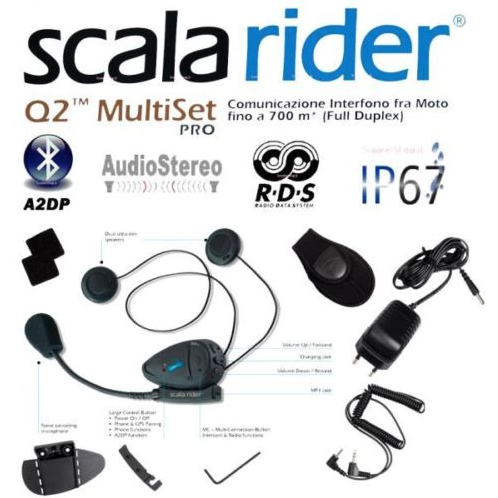 Scala Rider Q2 Multiset Pro motorcycle intercom headset - overview